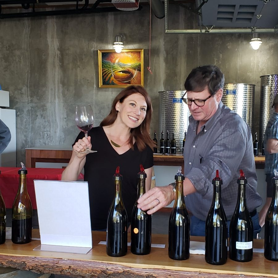 Ranking blending options with small vineyard owners on a recent trip to California.